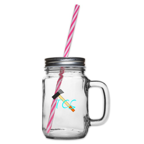 tcs drawn - Glass jar with handle and screw cap