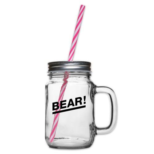 Bear! Solo - Henkelglas mit Schraubdeckel