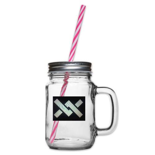 Original Movement Mens black t-shirt - Glass jar with handle and screw cap