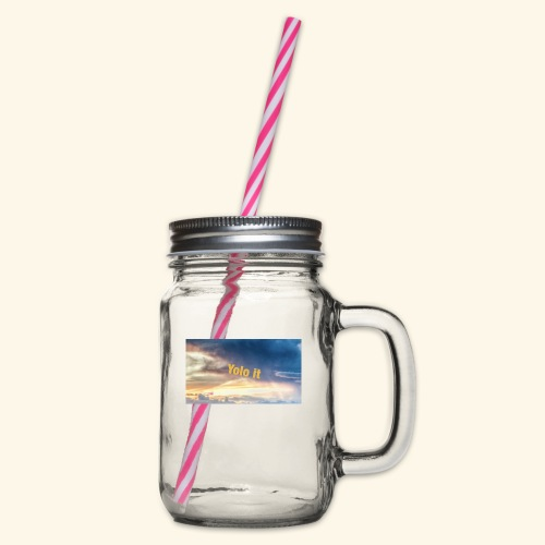 My merch - Glass jar with handle and screw cap