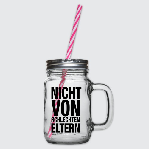 eltern - Henkelglas mit Schraubdeckel