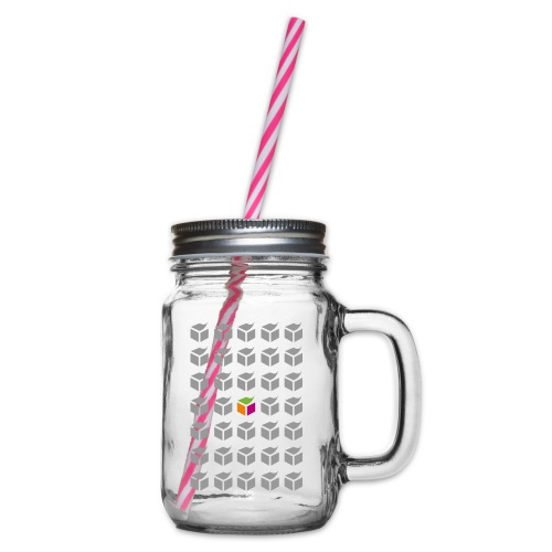 grid semantic web - Glass jar with handle and screw cap