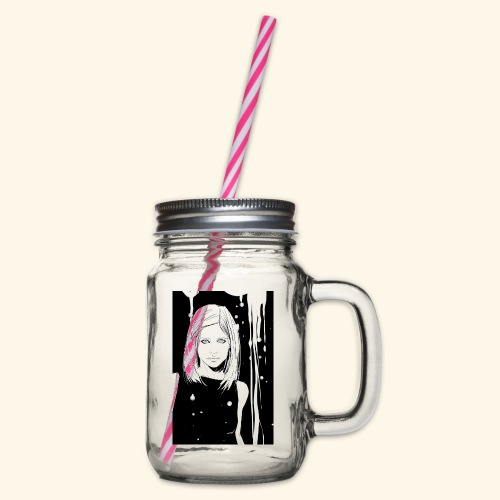 Buffy - Glass jar with handle and screw cap