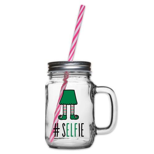 Christmas: (S)Elfie - Henkelglas mit Schraubdeckel