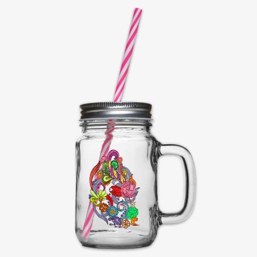 Flower Power - Crispy Morning - Glas med handtag och skruvlock