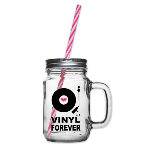 Vinyl Forever T-shirt - Glass jar with handle and screw cap