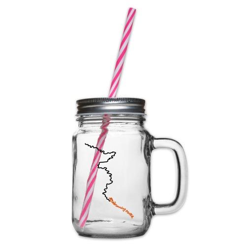 trailrunning rocks - Henkelglas mit Schraubdeckel
