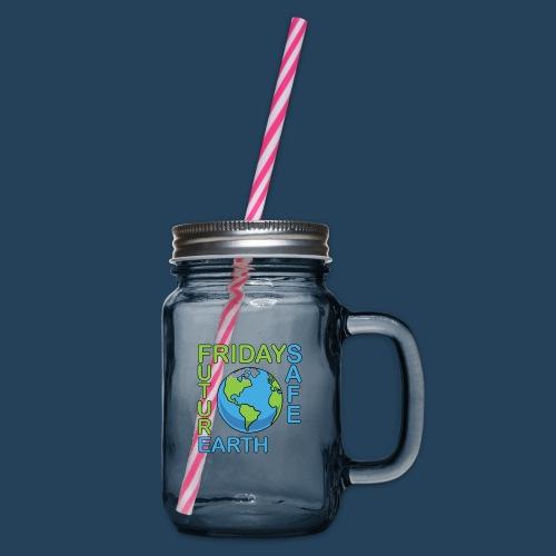 Safe Our Earth - Henkelglas mit Schraubdeckel