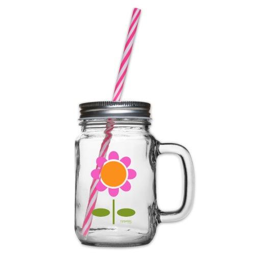 Retro flower - Lasimuki kierrekannella