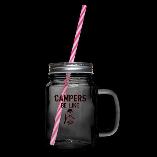 Camper Gaming - Henkelglas mit Schraubdeckel