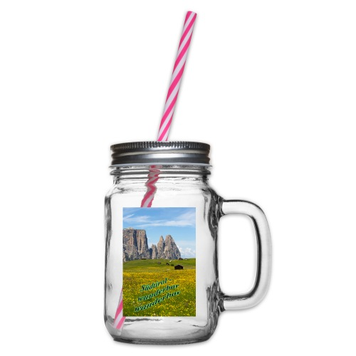Südtirol - wunderbar wanderbar - Henkelglas mit Schraubdeckel