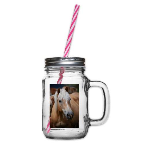 Haflinger - Henkelglas mit Schraubdeckel