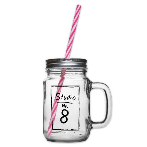 Studio Acht | Logo - Henkelglas mit Schraubdeckel
