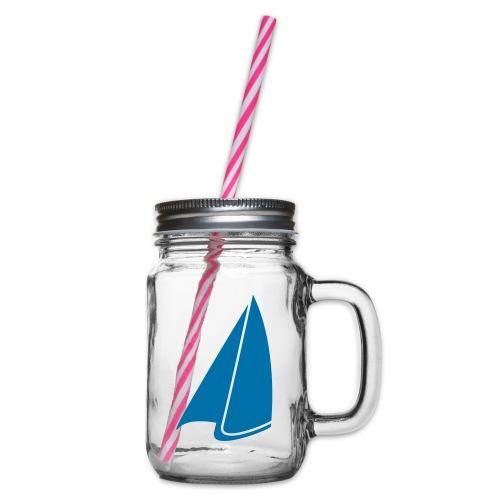 Segel Einfarbig - Henkelglas mit Schraubdeckel