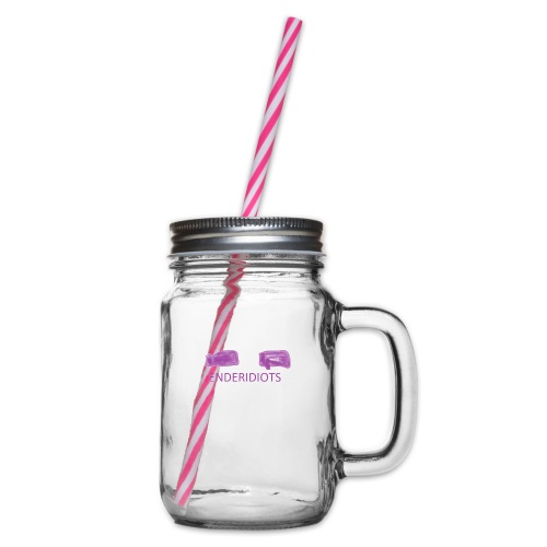 enderproductions enderidiots design - Glass jar with handle and screw cap