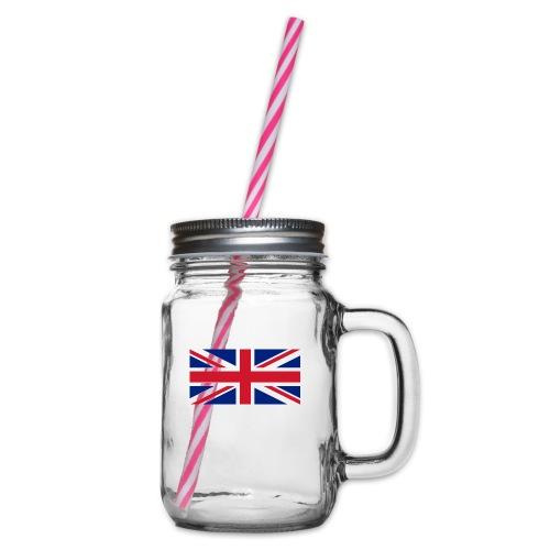 United Kingdom - Glass jar with handle and screw cap