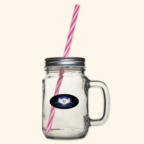 AMH Symbol - Henkelglas mit Schraubdeckel