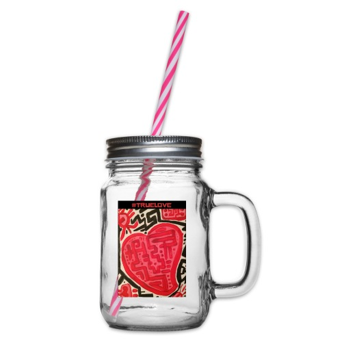 #truelove - Glass jar with handle and screw cap