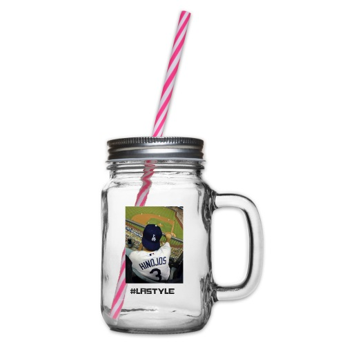 L.A. STYLE 1 - Glass jar with handle and screw cap