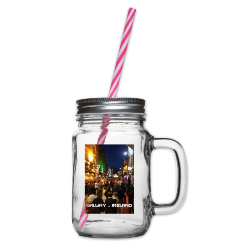 GALWAY IRELAND SHOP STREET - Glass jar with handle and screw cap