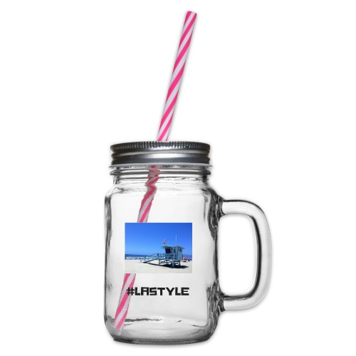 LA STYLE 2 - Glass jar with handle and screw cap