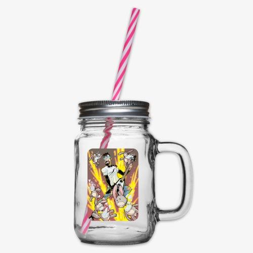Leo Rock Bunny - Glass med hank og skrulokk
