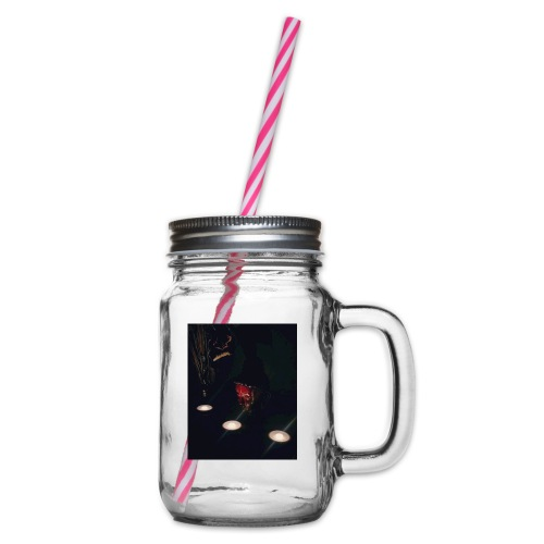 Relax - Glass jar with handle and screw cap