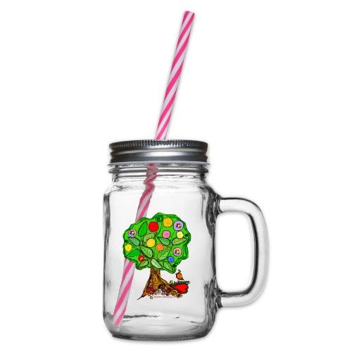 LebensBaum - Henkelglas mit Schraubdeckel