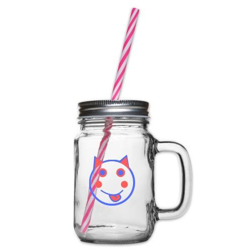 Alf Cat RWB | Alf Da Cat - Glass jar with handle and screw cap