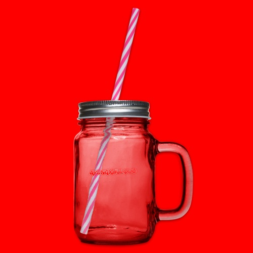 AYungXhulooo - Neon Redd - Glass jar with handle and screw cap