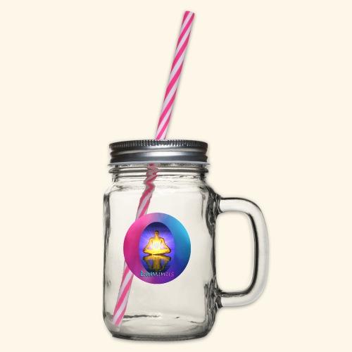 Luminus - Henkelglas mit Schraubdeckel