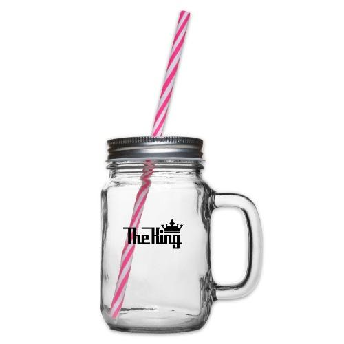 TheKing - Henkelglas mit Schraubdeckel