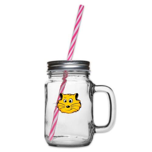 Hamster - Henkelglas mit Schraubdeckel