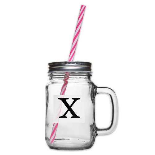 THE X - Glass jar with handle and screw cap