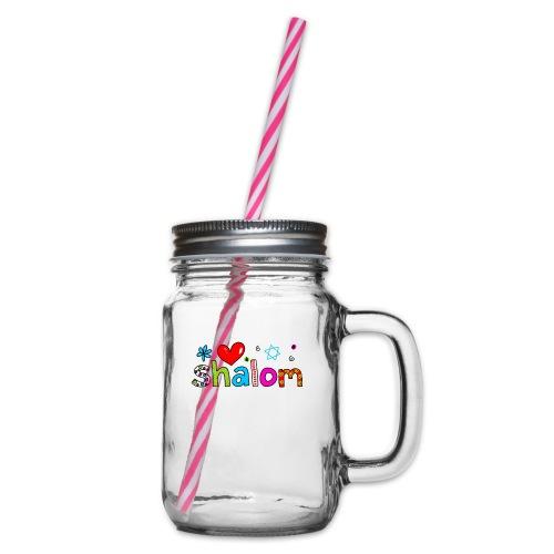 Shalom II - Henkelglas mit Schraubdeckel