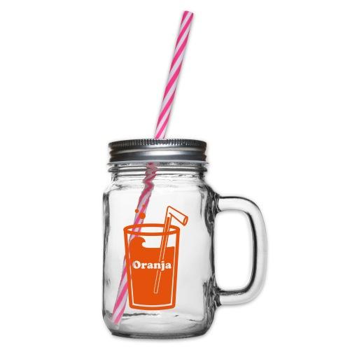 Oranja - Drinkbeker met handvat en schroefdeksel