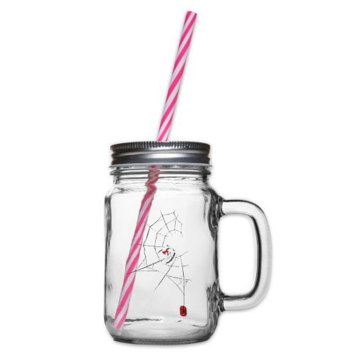 Surf the Web - Glass jar with handle and screw cap