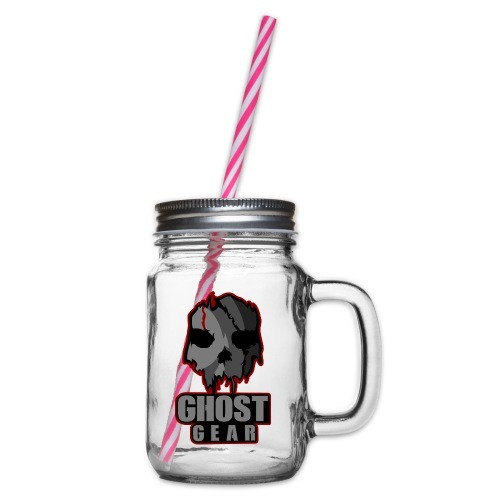 Ghost Gear Skull - Glass jar with handle and screw cap