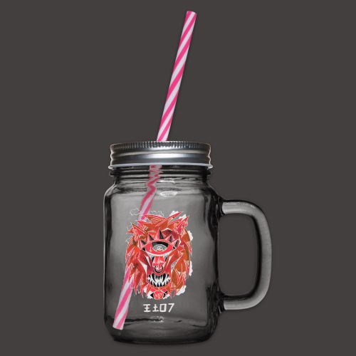 lion Négutif - Bocal à boisson