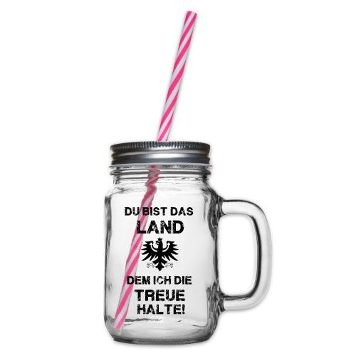 Tiroler Spruch - Henkelglas mit Schraubdeckel