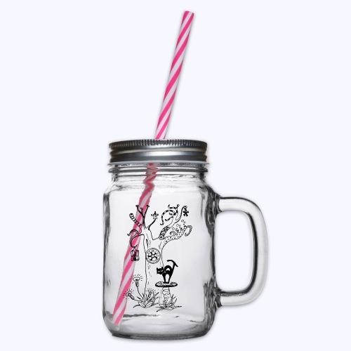 PsyTreeTwo black - Henkelglas mit Schraubdeckel