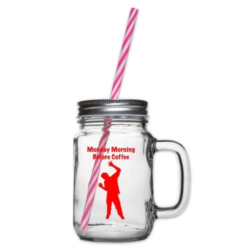 Coffee Zombie - Henkelglas mit Schraubdeckel