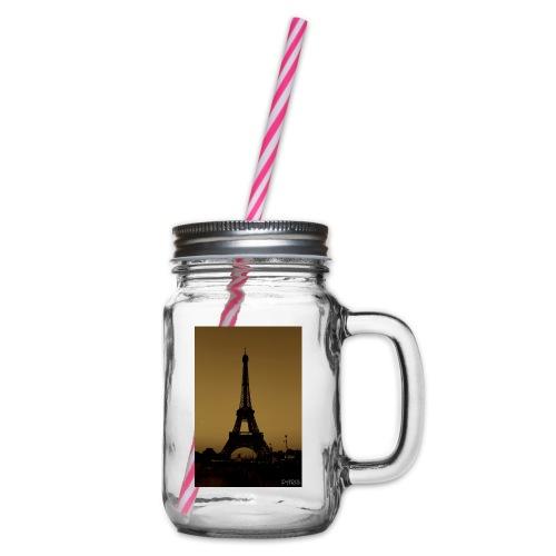 Paris - Glass jar with handle and screw cap