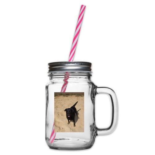 Sandpfoten - Glass jar with handle and screw cap