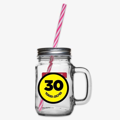 30 Jaar Belgian New Beat Smiley - Drinkbeker met handvat en schroefdeksel