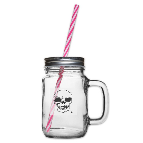 Skull Magic - Glass jar with handle and screw cap