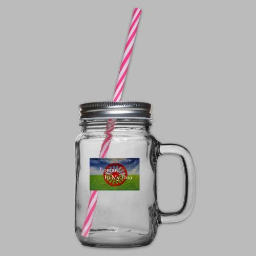 flagromaniinmydna - Glas med handtag och skruvlock