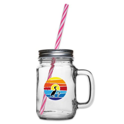 Schee-Fest 2021 - nur Logo - Henkelglas mit Schraubdeckel