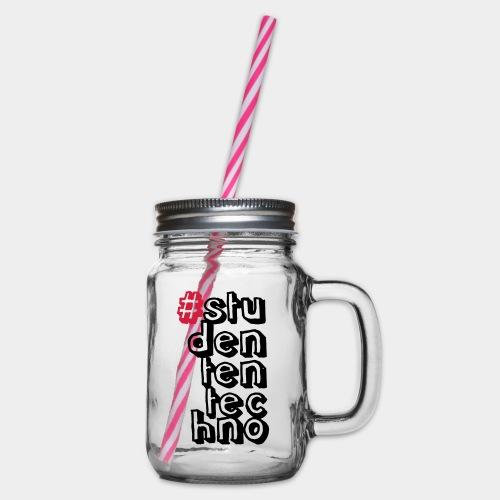 #studententechno (groß) - Henkelglas mit Schraubdeckel