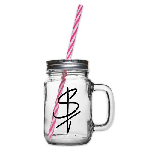 logo st - Henkelglas mit Schraubdeckel